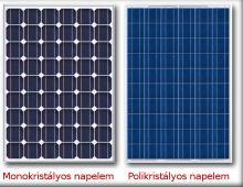 Monokristalyos Polikristalyos napelem