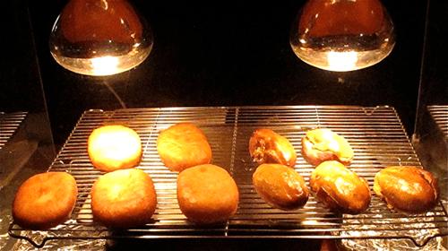 Étel melegentartás Infralámpával