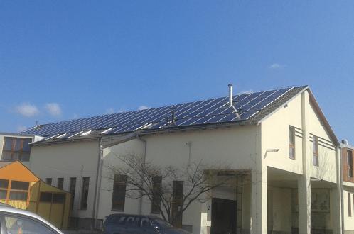 Járási hivatal Baranyában napelemmel