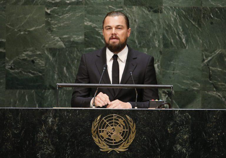 Leonardo DiCaprio New York Klímahét - vége az olajbiznisznek.